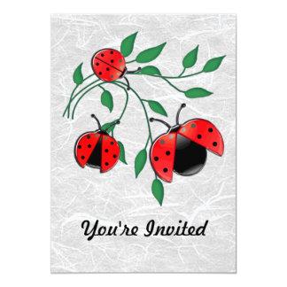 Lady Bug, Lady Bugs Fly Away Home 13 Cm X 18 Cm Invitation Card