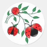 Lady Bug, Lady Bugs Round Sticker