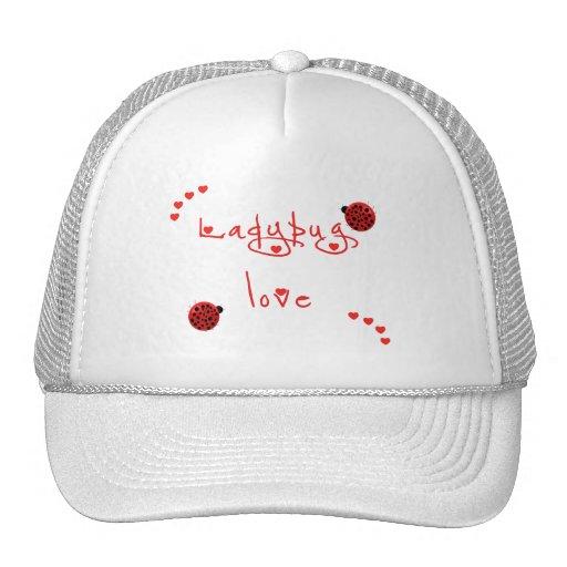 Lady Bug Love Mesh Hats