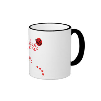 Lady Bug Love Ringer Mug