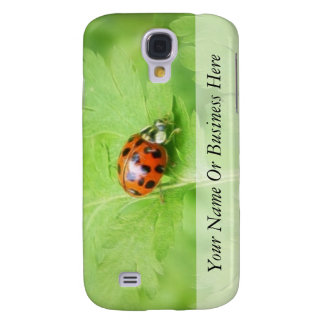 Lady Bug on Feverfew Leaf Galaxy S4 Case