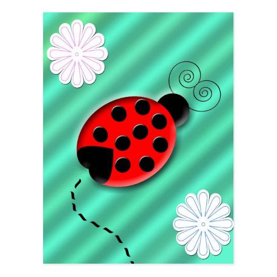 lady bug postcard