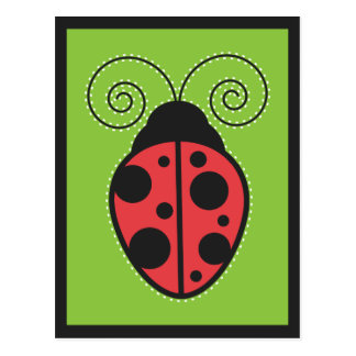 Lady Bug Postcard