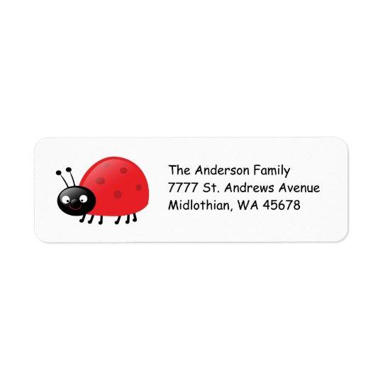 Lady Bug Return Address Avery Label Return Address Label