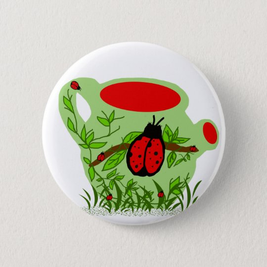 Lady bug tea pot button