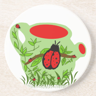 Lady bug tea pot coaster