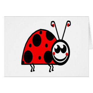 lady bug waiting for true love greeting card