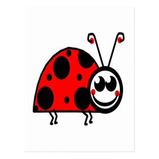 lady bug waiting for true love postcard