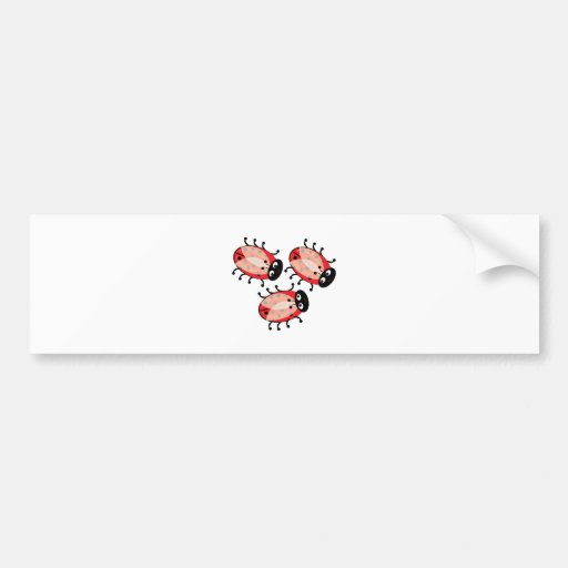 Lady Bugs Bumper Stickers