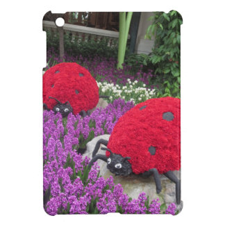Lady BUGS n pink FLOWERS Butterfly Garden Gifts iPad Mini Cover