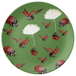 Lady bugs Spring Decorative Porcelain Plate