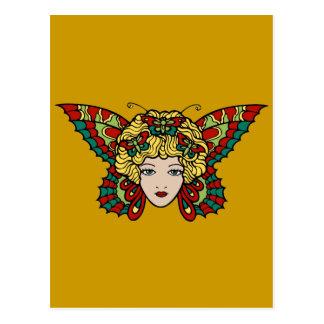 Lady Butterfly Postcard