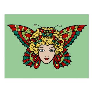 Lady Butterfly Postcards