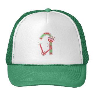 Lady Candy Cane Baseball Cap Mesh Hat