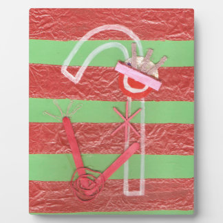 Lady Candy Cane Easel Plaque