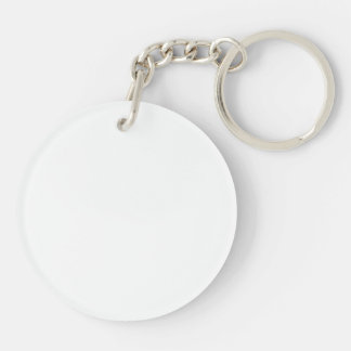 Lady & Car Black & White Acrylic Round Keychain Keychain