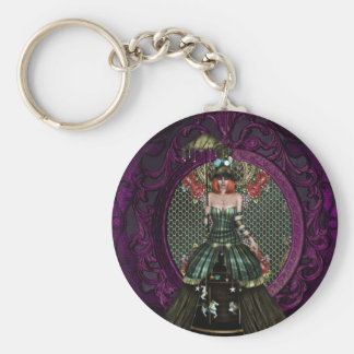 Lady Carnival Basic Round Button Key Ring