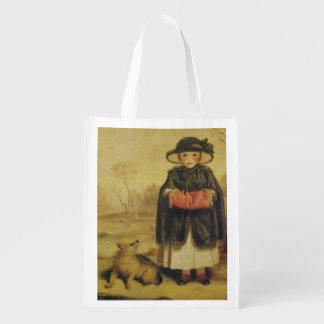 Lady Caroline Montagu, c.1776 (oil on canvas) Reusable Grocery Bag