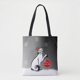 Lady Cat shows your Christmas wishes! Tote Bag