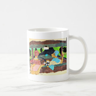 Lady cats in 1929 Chevy Classic White Coffee Mug