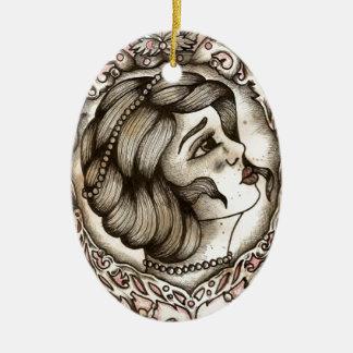 Lady Ceramic Oval Decoration