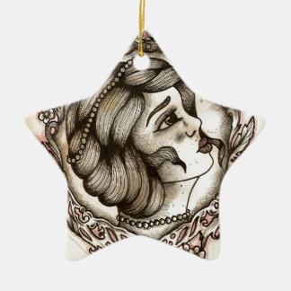 Lady Ceramic Star Decoration