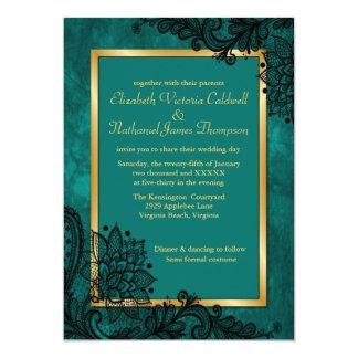 Lady Chantilly Lace Wedding Invitation