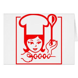 Lady Chef Card