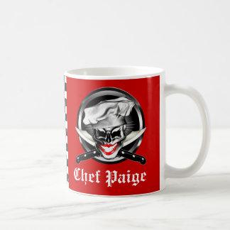 Lady Chef Skull: Personalized Basic White Mug