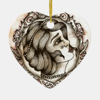 Lady Christmas Ornament