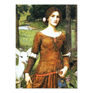 Lady Clare and the Fawn 14 Cm X 19 Cm Invitation Card
