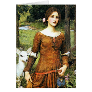 Lady Clare and the Fawn Card