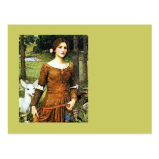 Lady Clare and the Fawn Postcard