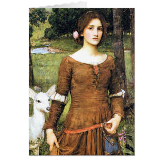 Lady Clare with a Fawn Greeting Card