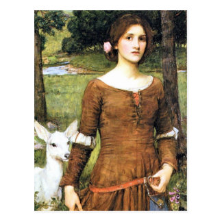 Lady Clare with a Fawn Postcard