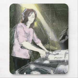 Lady DJ Mouse Mat