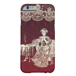 lady drinks tea barely there iPhone 6 case