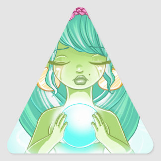 Lady elf of the lake triangle sticker