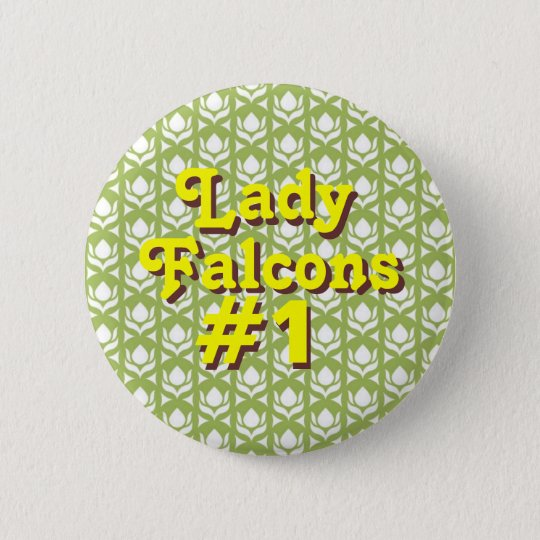 Lady Falcons #1 6 Cm Round Badge