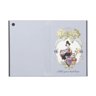 Lady Fan and Dog iPad Mini Cases