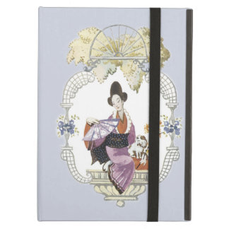 Lady Fan and Dog iPad Air Cover