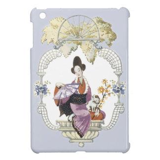 Lady Fan and Dog iPad Mini Cover