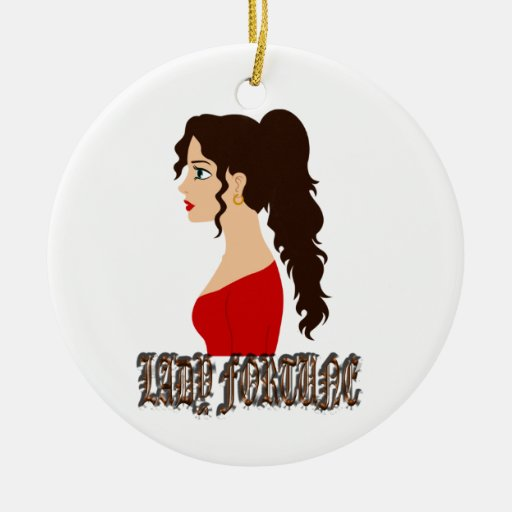 Lady Fortune Christmas Tree Ornament