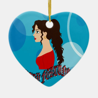 Lady Fortune With Blue Color Christmas Ornament