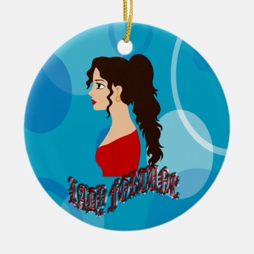 Lady Fortune With Blue Color Christmas Tree Ornaments