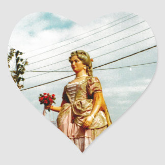 Lady Giant, Parade of the Giants, Flanders Heart Sticker