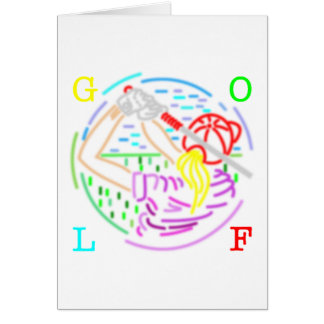 lady golf card