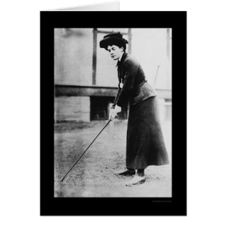 Lady Golf Champion, Dorothy Cambell 1909 Greeting Card