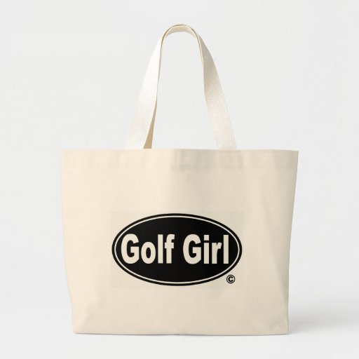 Lady Golfer Jumbo Tote Canvas Bags