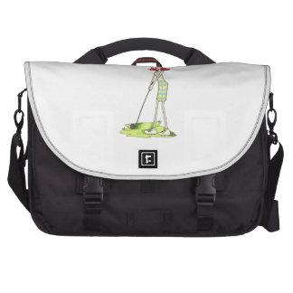 Lady Golfer Laptop Computer Bag